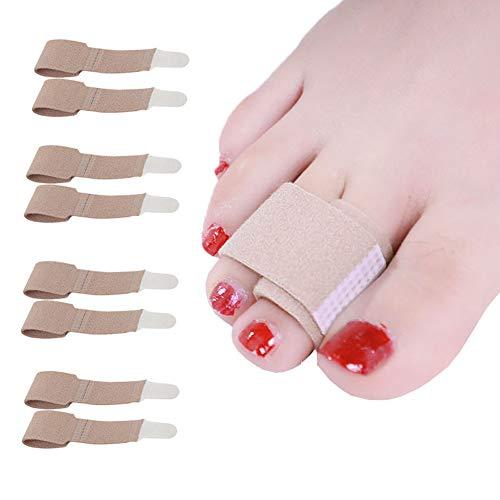 CHOLJ Toe Splint Wraps Pack of 8 Non Slip Hammer Toe Straightener for Broken, Crooked, Overlapped, and Hammer Toes-Women and Men (Hammer Toe Straightener-4 Pairs)