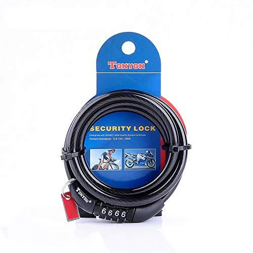 ACECYCLE Fietssloten Fietsslot Cijferslot viercijferig, anti-schaar-kabelslot, geen sleutel nodig, lichtgewicht, voor…
