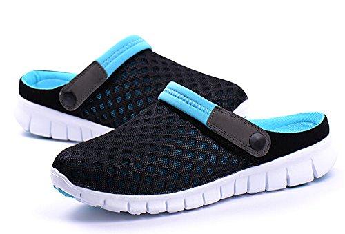 Fansela(TM) Unisex Summer Breathable Mesh Net Cloth Slippers Beach Sandals Blue Size 8 from Fansela