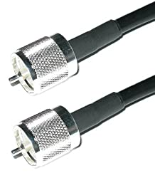 Times Microwave Lmr400 Pl259 Uhf Male To Uhf Male Jumpers | Silver Teflon Pl-259 Connectors Soldered On Each End Of Us Made Lmr-400 Coax Cable (20 Ft)