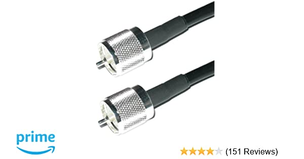 VHF 1.5 FT PL259 M//M Connectors Ham Radio Short Wave Radio HF Cable Experts RG-8X Coax Cable UHF Heavy Duty Indoor//Outdoor Weatherproof Jumper Cables CB