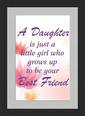 Amazoncom Daughter To Best Friend Quotes Framed Wall Art Wall
