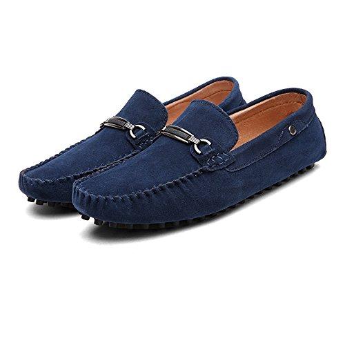 tamaño de Xiazhi de los Color genuinos Hombres de Mocasines shoes Ligeros los Penny Cuero conducción de Hombres Armada EU de 43 wg1gUqt