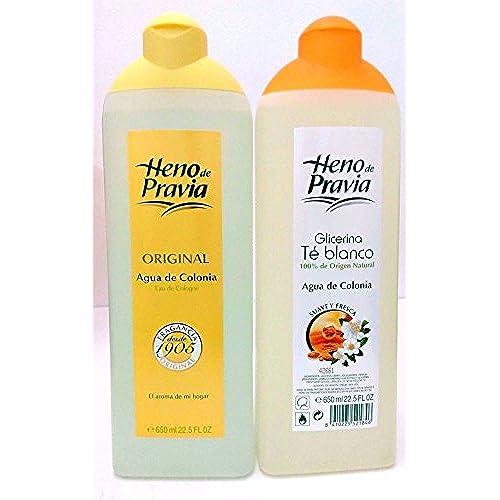 Heno Pravia Agua De Colonia & Glicerina Te Blanco Agua De Colonia 22.5 Oz 2 Pack