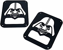 Pair Xprite 2007-2018 Jeep Wrangler JK Unlimited Black Light Guard Star War Darth Vader For Rear Taillights ( Tail Light ) Cover