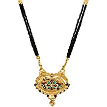 Bollywood Style Enamel Collection Mangalsutra Tanmania Traditional Indian Design for Women