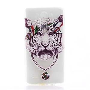 Tigre patrón TPU caja del teléfono de material para lg g3