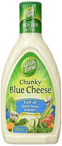 Wish-Bone, Salad Dressing, Chunky Blue Cheese, 16oz Bottle (Pack of 3)