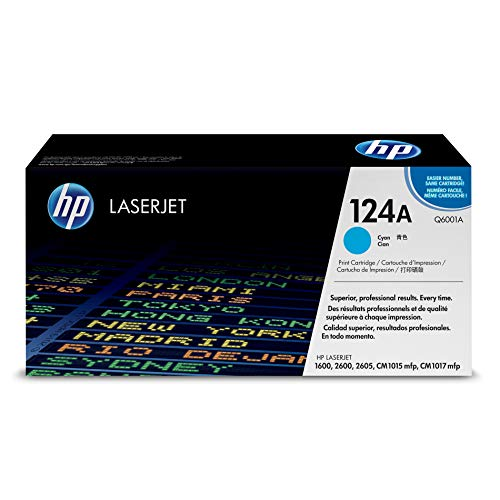 HP 124A (Q6001A) Cyan Toner Cartridge for HP Color LaserJet 2600n 1600 2605 1015 1017