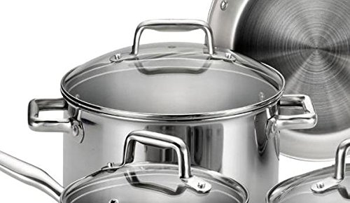 T-fal E469SC Tri-ply Stainless Steel Multi-clad Dishwasher Safe Oven Safe Cookware Set, 12-Piece, Silver by T-fal (Image #4)