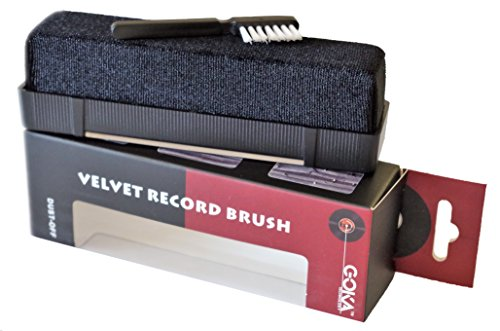 Vinyl Record Cleaning Kit, Anti Static Velvet Brush for Vinyl Records With Stylus Cleaner Brush – Best for Cleaning Vinyl Records, to Remove Dust and Static Particles – Ideal Gift for Audiophile