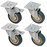 4 Packs 3 Inches (2 with Brakes, 2 Without),360
