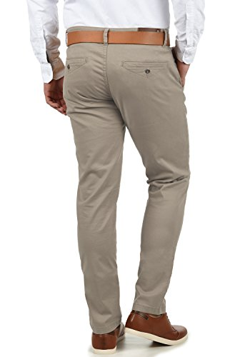 Original Belfo Fit Slim Coupe Shine Pantalon Chino Grey Stone Stretch Homme q4x5d1