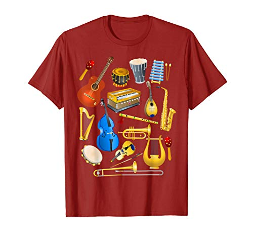 Cute Little Boys Musical Instruments Fans Shirt Funny Gift