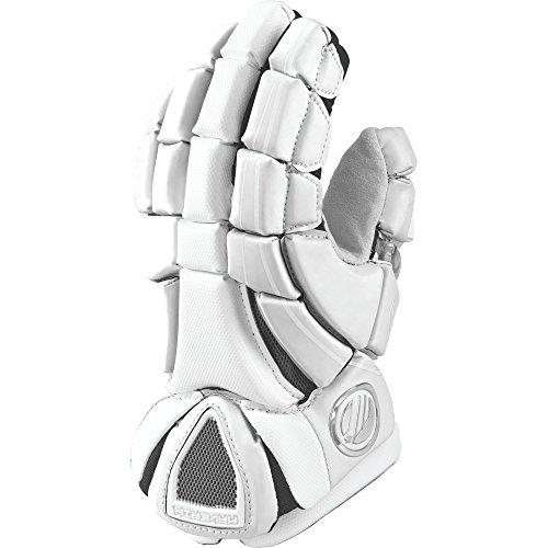 Maverik Lacrosse Men's Rome RX Glove, White, Medium