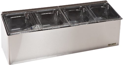 San Jamar FP8244FL EZ-Chill Stainless Steel Self-Service Center with Flex Lid by San Jamar