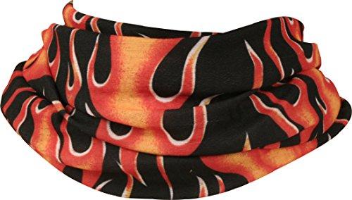 - Gear Gremlin Neck Tube with Hot Flame Rod Design (Black/Orange, One Size)