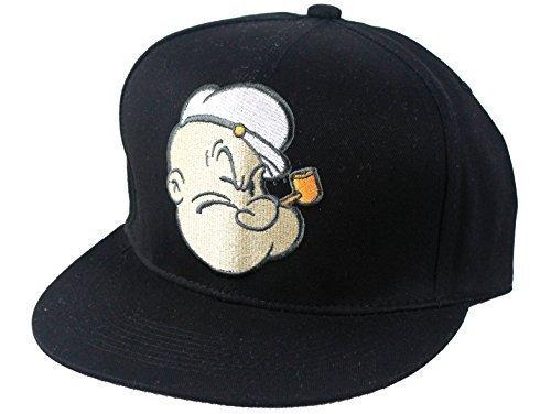 Oficial Looney Tunes Snapback Gorras, Popeye Flat Peak de Béisbol hombre mujer gorros, Hip Hop