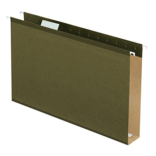 "Pendaflex Extra Capacity Reinforced Hanging File Folders, 2"", Legal Size, Standard Green, 1/5 Cut, 25/BX (4153x2)"