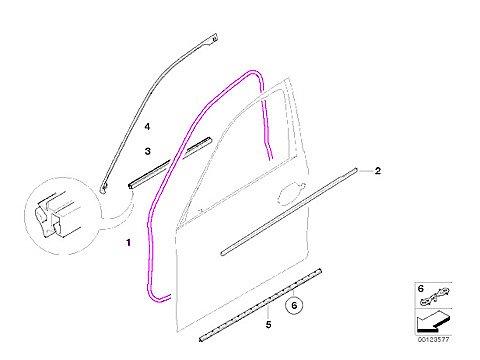 - BMW e60 SEDAN Door Seal weatherstrip L/R Front OEM e61 rubber gasket
