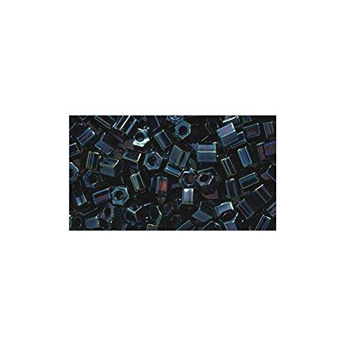 Shipwreck Beads 8/0 8c-452 Miyuki Seed Hex Cut Bead, Metallic Dark Blue Iris