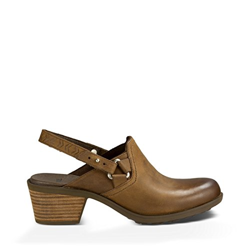 Teva Women's W Foxy Leather Clog , Brown, 8 M