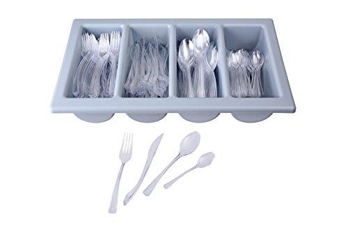 GRÄWE® Einwegbesteck - 200-tlg. Besteck aus Kunststoff inkl. Gastrokasten mit Deckel