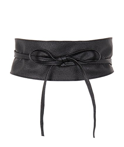 14987-BLK-OS: KRISP One Size PU Waist Belt, Black, One Size