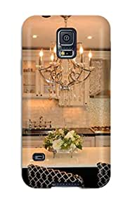 High Quality Shock Absorbing Case For Galaxy S5-traditional Kitchen With Chandelier Over Large Island With Seating