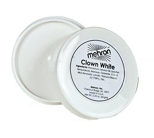 [Mehron Clown White Tub, 2.25 oz] (Clown White Makeup)