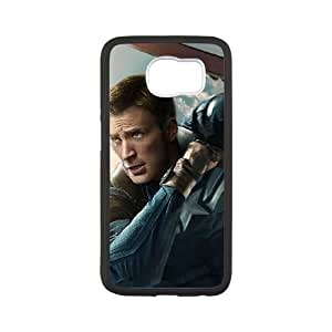 Captain America Samsung Galaxy S6 Phone Case Black white Gift Holiday Gifts Souvenir Halloween Gift Christmas Gifts TIGER155952