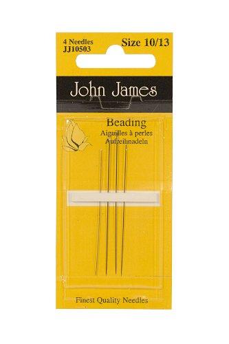 English Beading Needle-asst. Bx,w/12 Crd - BDN-104.04 by John James
