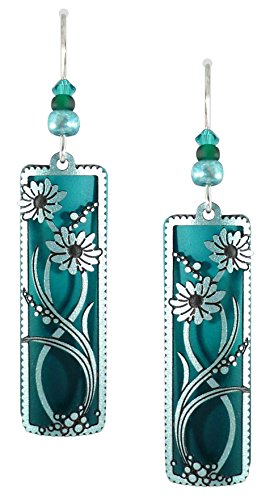 - Adajio by Sienna Sky Deep Green Teal Column Earrings 7573