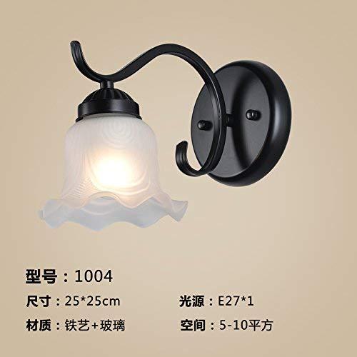 Minimalistische Wandleuchte E26   27 Sockelwandleuchten Die Lampen im Wohnzimmer, Schlafzimmer Korridor Wandleuchte Nachttischlampe Antikes Treppenhaus led Einzelkopf, 1004 (eine 7-Watt-LED-Birne)