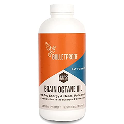 Bulletproof - Brain Octane Oil, Reliable and Quick Source of Energy (16 Ounces) (Supernatural Battery)