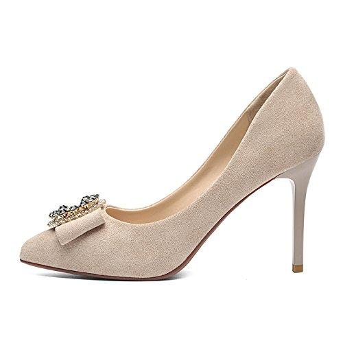 7f4c76eb Chic Mujer Negro Tacones Altos Moda Zapatos De Corte De Trabajo Sexy Boda  Impermeable Profesión Zapatos