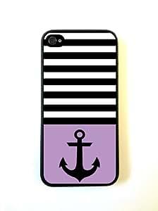 Anchor Black Stripes & Violet Black iPhone 5 Case - For iPhone 5/5G - Designer PC Case wangjiang maoyi