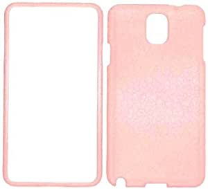 Bloutina Cell Armor Snap-On Cover for Samsung Galaxy Note 3 - Retail Packaging - Pearl Baby Pink Leather Finish