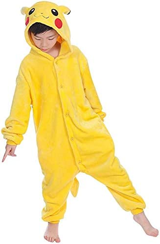 Niños Adultos Pikachu Onesies camisón Pijama con Capucha Ropa de ...