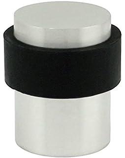 INOX DSIX02 32D Cylindrical Floor Mount Door Stop, Satin Stainless Steel