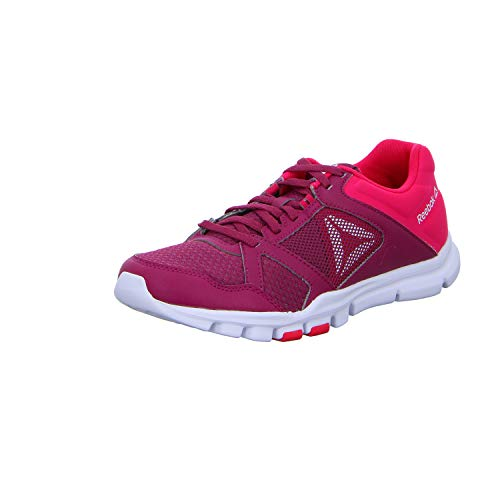 Mujer Berry 10 Twisted Pink Yourflex 000 Twisted para Deporte White Zapatillas MT de Reebok Trainette Multicolor 1Hfwqx8