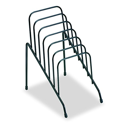 Fellowes Folder - Fellowes Step File Junior Wire Organizer Rack, 6 Sections, Black (72613)