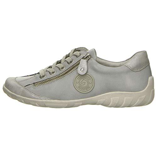 Silber 11 whitelightblu whitelightblu Mujeres Remonte Zapatos Cordones Gris R3443 Con silber qB6qz