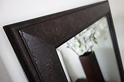 West Frames Marcello Full Floor Rustic Dark Charcoal Brown Mirror