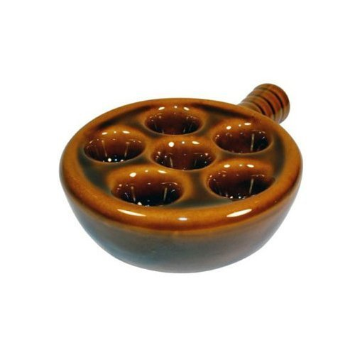 Escargot Snail Ceramic Plate with Handle