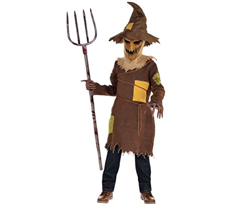 Amscan Scary Scarecrow Halloween Costume for Boys, Medium, with Included Accessories