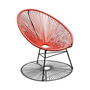 Amazon.com: Harmonia Living HL-ACA-LC-WLB Acapulco Lounge Chair ...