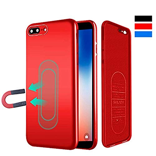 Case for iPhone 6/6s,Ultra Thin Magnetic Phone Case for Magnet Car Phone Holder with Invisible Built-in Metal Plate,Soft TPU Shockproof Anti-Scratch Protective Cover for iPhone 6/6s 4.7[Red]