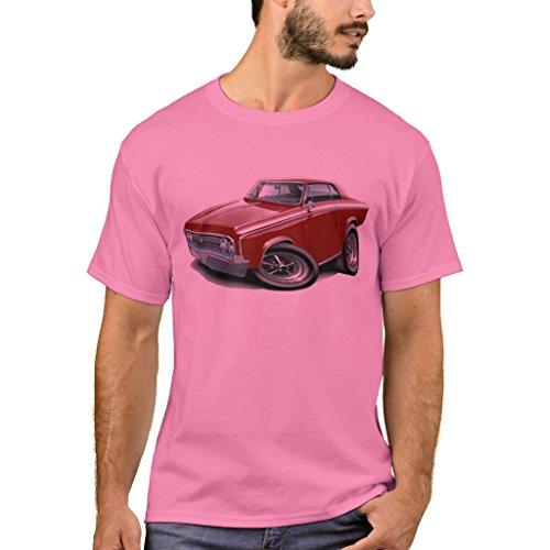 1964 65 Cutlass - Zazzle Men's Basic T-Shirt, 1964-65 Cutlass Maroon Car T-Shirt, Pink XXXL