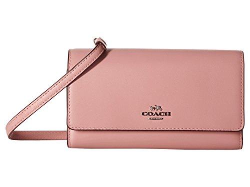 Coach Women's Smooth Leather Phone Crossbody SV/Pink Cros...